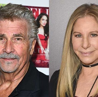 A photo of Josh Brolin on the left next to a photo of Barbra Streisand on the right