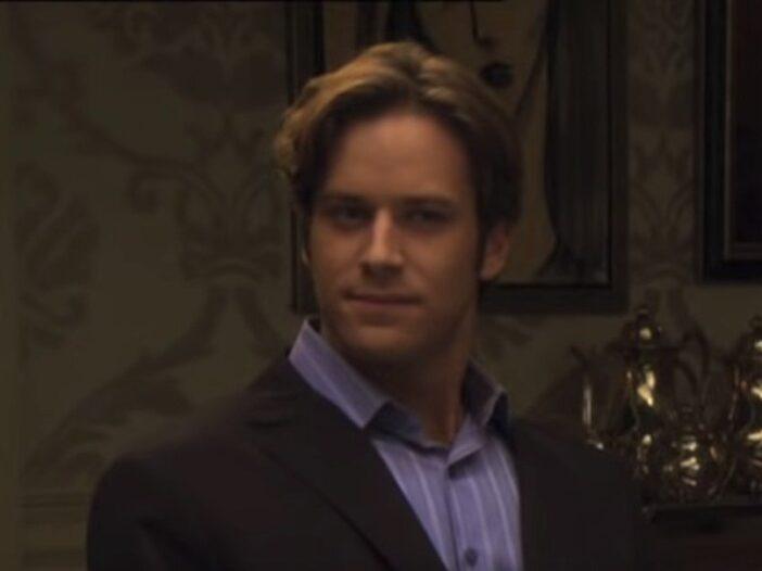 A screenshot of an episode of Gossip Girl featuring Armie Hammer