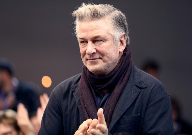 Alec Baldwin in a black jacket and maroon scarf at the Sundance Institute