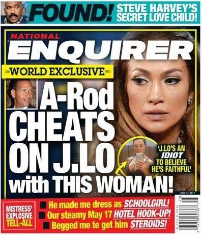 Alex Rodriguez National enquirer Cover Story