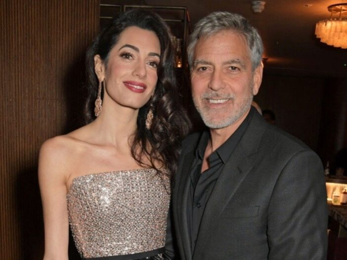 """Amal Clooney and George Clooney attend the London Premiere after party for """"Catch-22"""""""