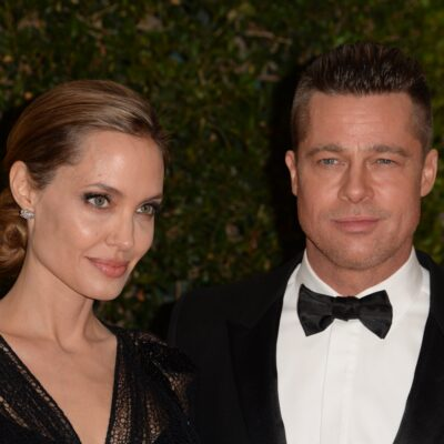 Angelina Jolie and Brad Pitt arrive for the 2013 Governors Awards
