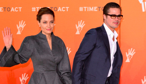 Angelina Jolie Brad Pitt Trick Or Treating