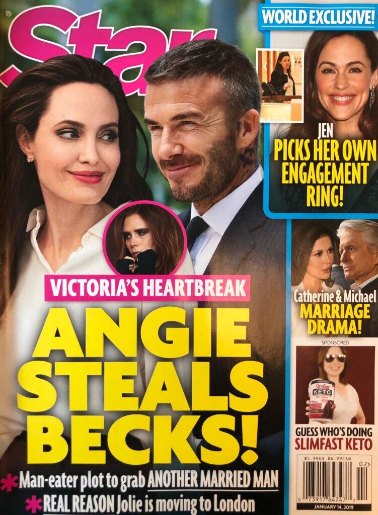 Angelina Jolie David Beckham Wife Victoria