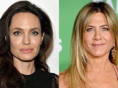 Angelina Jolie Jennifer Aniston Golden Globes Run-In