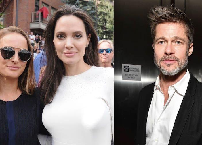 Angelina Jolie Natalie Portman Brad Pitt