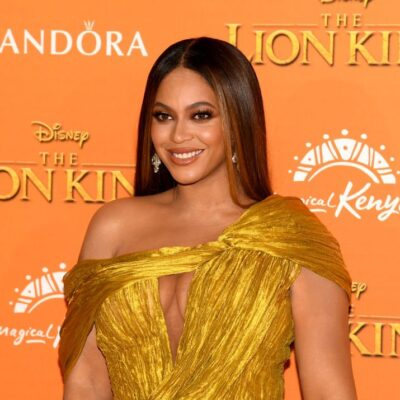 """Beyonce attends the European Premiere of Disney's """"The Lion King"""" at Odeon Luxe Leicester Square"""
