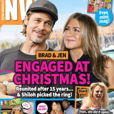 """Brad Pitt and Jennifer Aniston """"engaged at Christmas"""" NW cover story"""