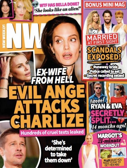 Brad Pitt Charlize Theron Angelina Jolie Kids