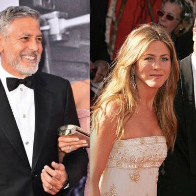 Brad Pitt Jennifer Aniston George Clooney Dinner
