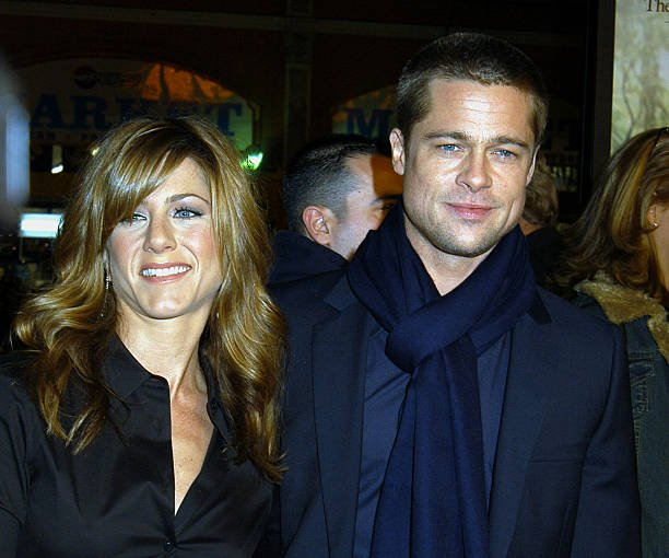 Brad Pitt Jennifer Aniston Oscars Party