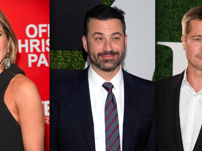 Brad Pitt Jennifer Aniston Reunion Jimmy Kimmel
