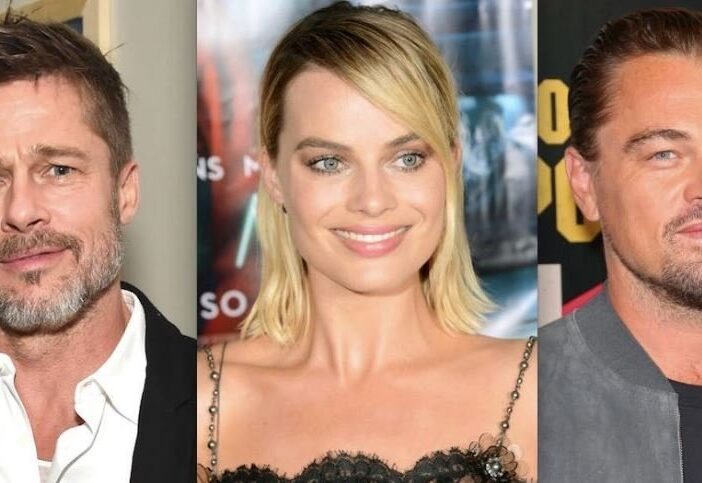 Brad Pitt Margot Robbie Flirting