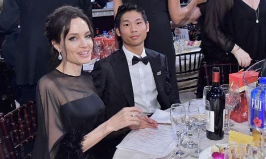 Brad Pitt Pax Golden Globes Angelina Jolie