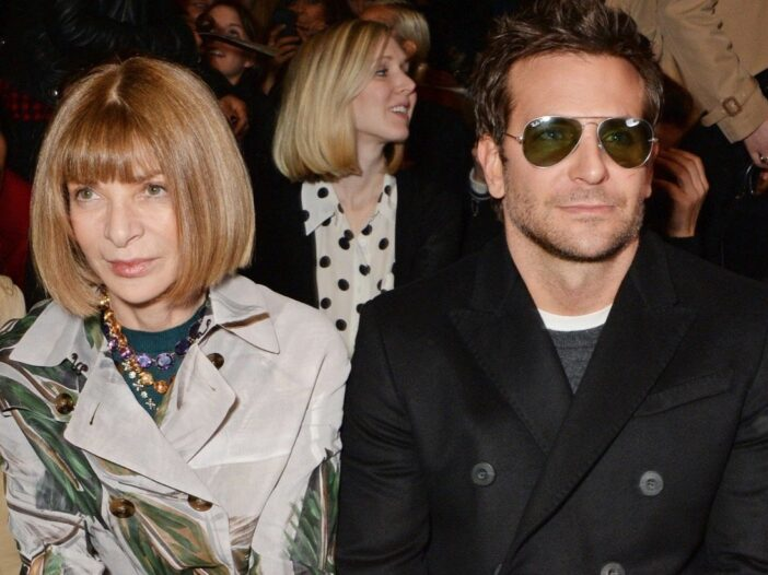 Bradley Cooper and Anna Wintour at a fashion show
