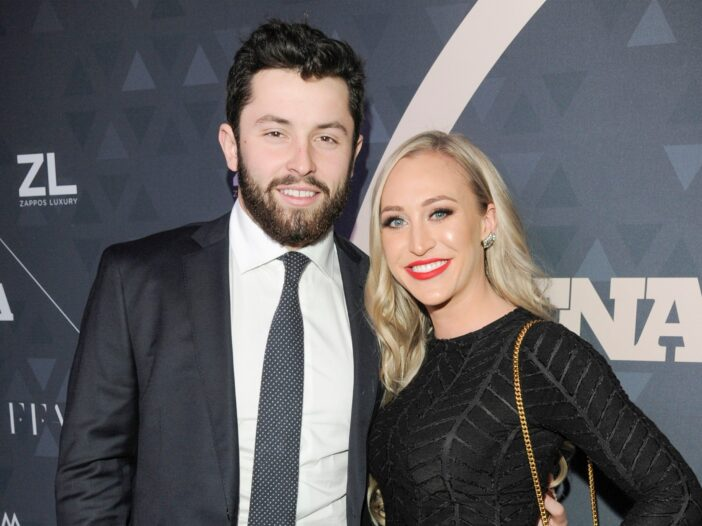 Browns Quarterback Baker Mayfield pictured with wife Emily Wilkinson