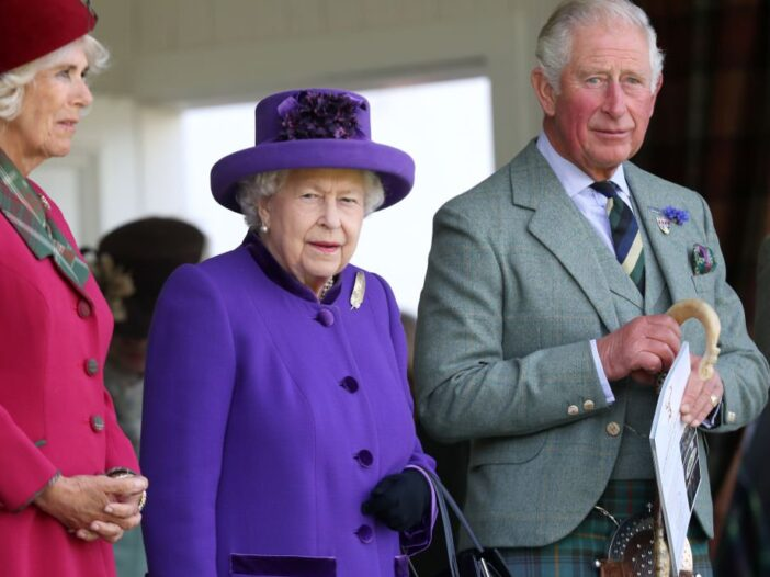 Camilla, Duchess of Cornwall, Queen Elizabeth II and Prince Charles, Prince of Wales during the 2019