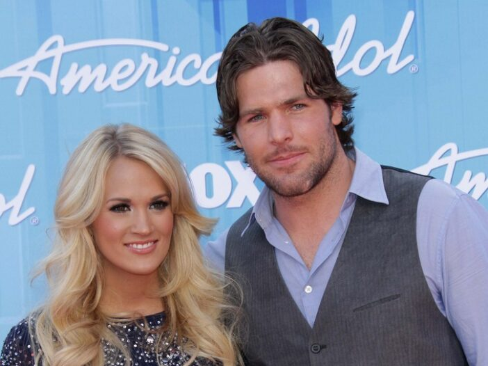 Carrie Underwood on the left, Mike Fisher on the right.