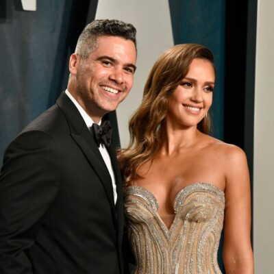Cash Warren and Jessica Alba attend the 2020 Vanity Fair Oscar Party