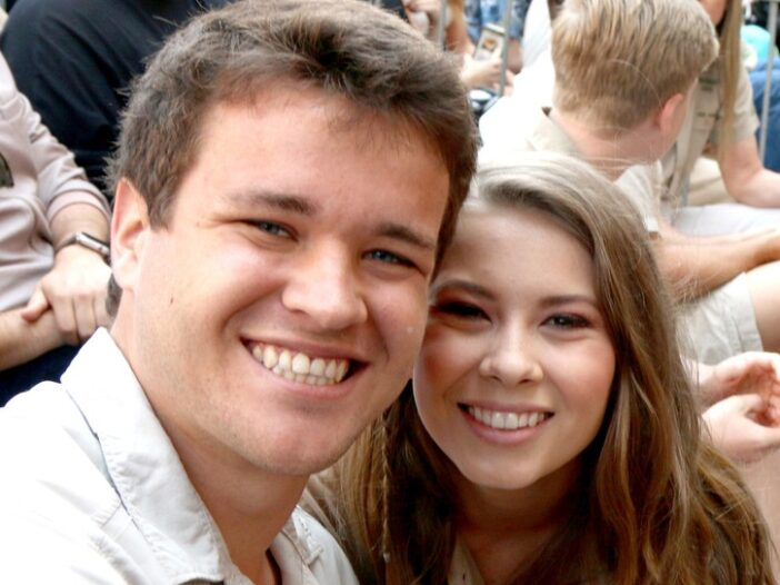 Chandler Powell on the left, Bindi Irwin on the right.