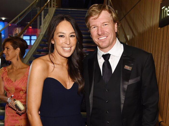 Chip and Joanna Gaines in black tie attire.