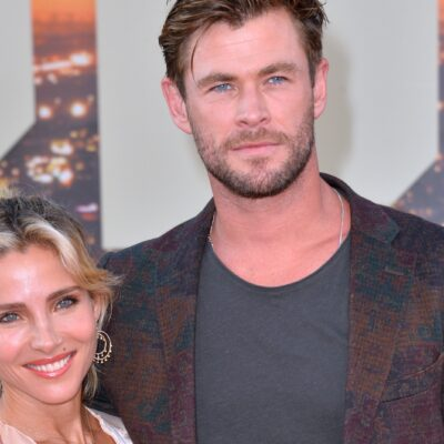 Chris Hemsworth and Elsa Pataky together at a red carpet event.