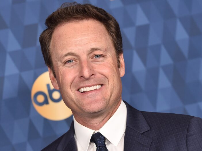 Close up of Chris Harrison in a suit and tie.
