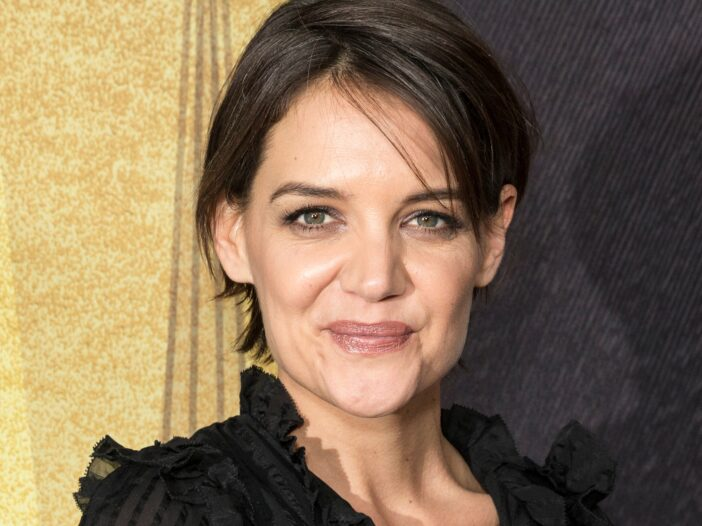 Close up of Katie Holmes with short hair
