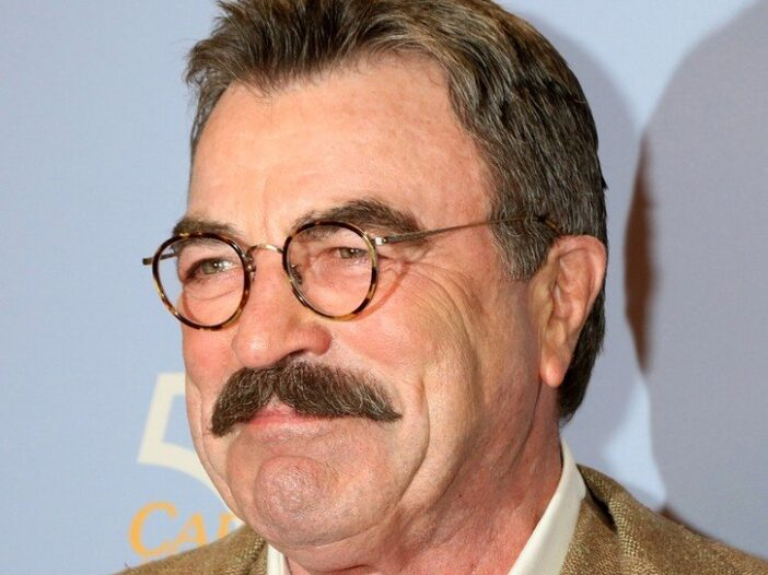 Close Up of Tom Selleck smiling.