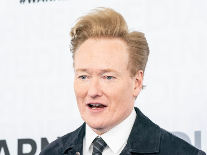 Conan O'Brien looking a little shocked.