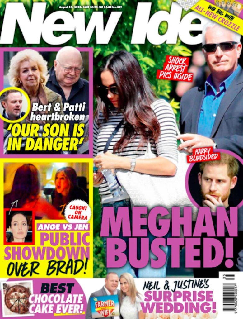 cover of New Idea with Meghan Markle and headline saying Meghan Busted!