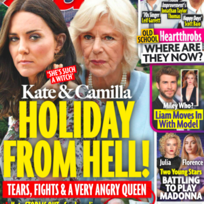 cover of Star with Kate Middleton and Camilla Parker Bowles with text saying Holiday From Hell