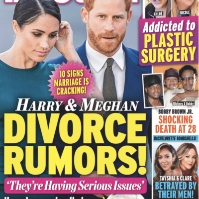 """Cover of the December 7th, 2020 issue of In Touch with the headline """"Harry & Meghan Divorce Rumors!"""""""