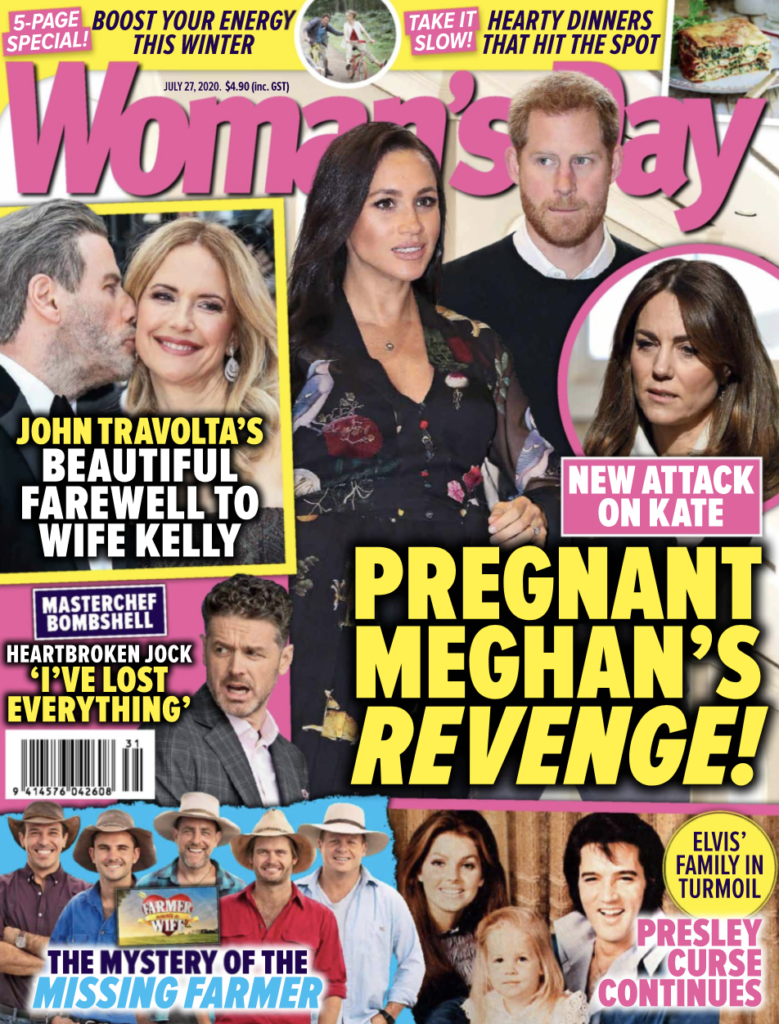 Cover of the July 27, 2020 issue of Woman's Day New Zealand.