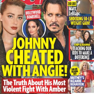 """Cover of the July 27th Issue of Star with the headline """"Johnny Cheated With Angie!"""" and photos of Jo"""
