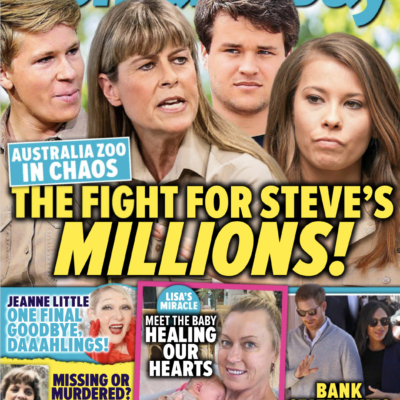 Cover of the November 23rd, 2020 issue of Woman's Day Magazine with photos of Terri Irwin and Bindi Irwin