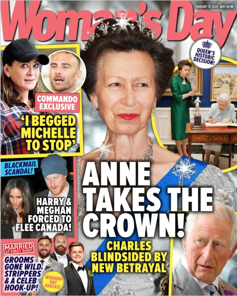 Cover of Woman's Day magazine with Princess Anne