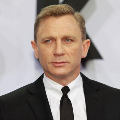 Daniel Craig wearing a black suit at the German premiere of Skyfall