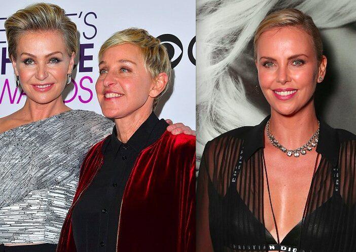 Ellen DeGeneres Charlize Theron Portia De Rossi