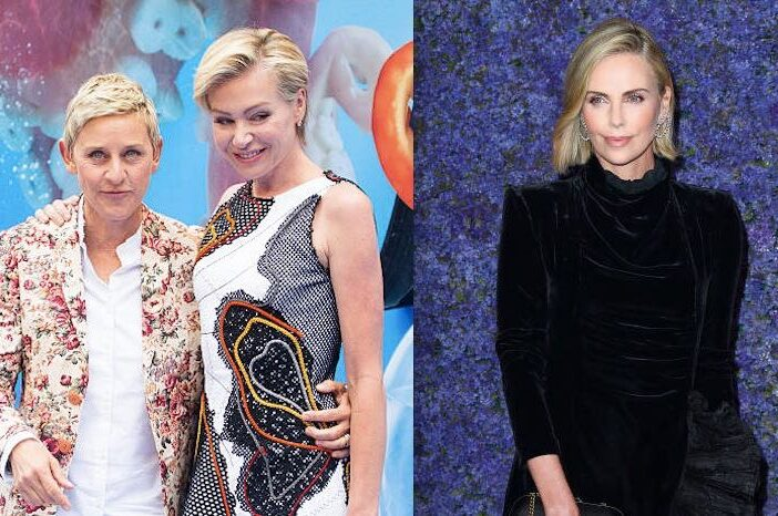 Ellen DeGeneres Charlize Theron Fight