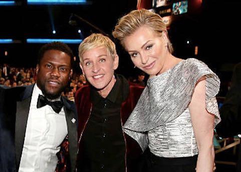 Ellen DeGeneres Portia De Rossi Kevin Hart