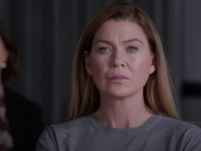 Ellen Pompeo as Dr. Meredith Grey on Grey's Anatomy