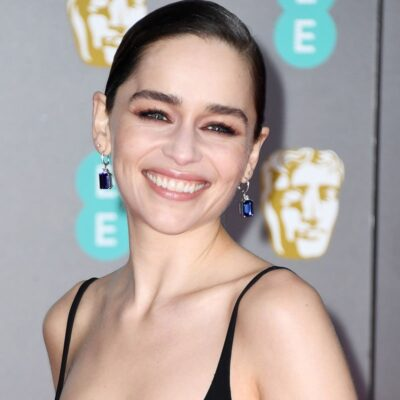 Emilia Clarke smiling for the camera
