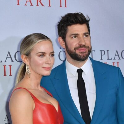"""Emily Blunt and John Krasinski attend Paramount Pictures' """"A Quiet Place Part II"""" world premiere at"""