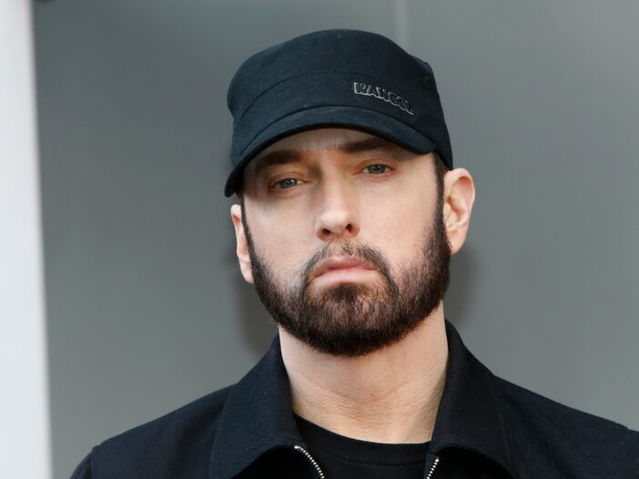 Eminem with beard and black hat in January 2019