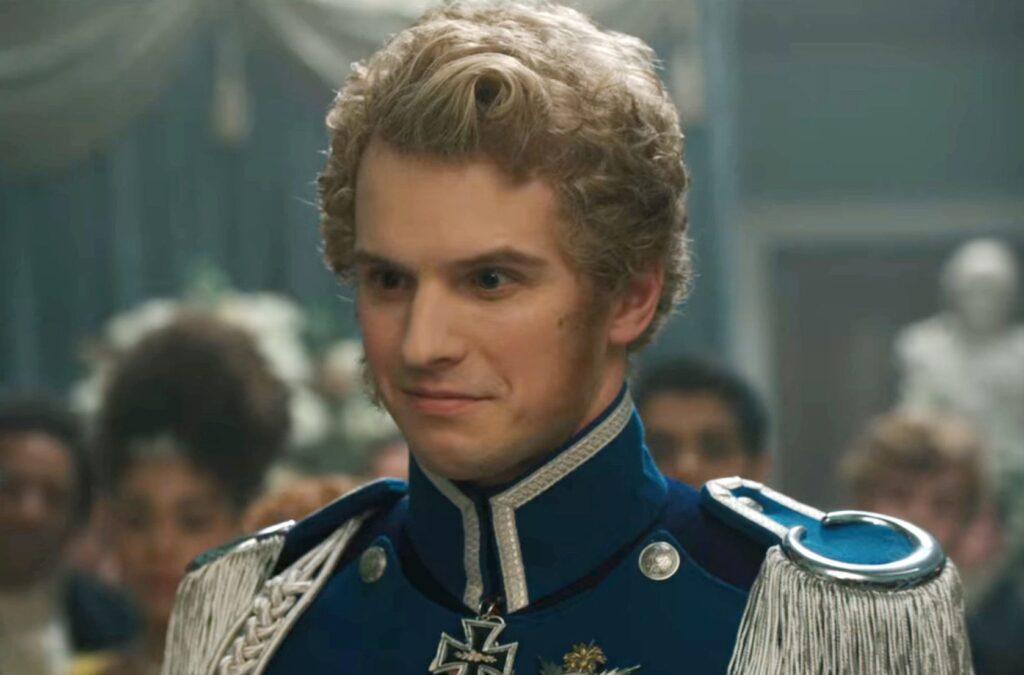 Freddie Stroma as Prince Frederick on 'Bridgerton'.