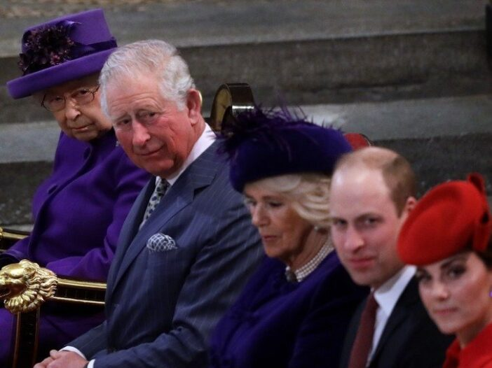 From right to left: Catherine, Duchess of Cambridge, Prince William, Camilla, the Duchess of Cornwal