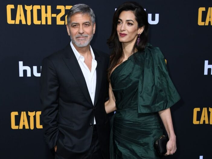 """George Clooney and Amal Clooney arrive to the premiere of """"Catch-22"""" at the TCL Chinese Theatre in H"""