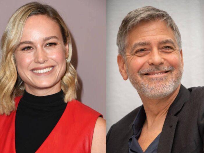 George Clooney Brie Larson Flirty