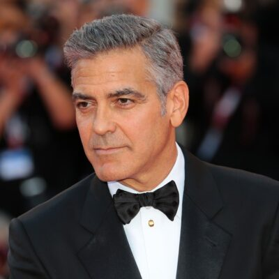 George Clooney looking good in a tuxedo